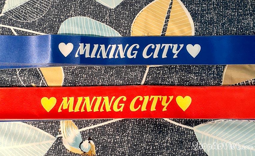 Thiết kế băng rôn cho công ty Mining City