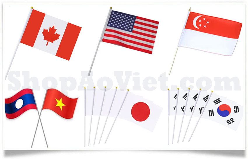 cờ cầm tay các nước